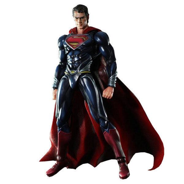 SUPERMAN - Man of Steel 9.5  Superman Play Arts Kai Action Figure  NEW