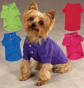 Dog-Polo-Shirt-Top-Zack-Zoey-pink-blue-red-green-NEW-XXS-XXL-POLOS-Pet