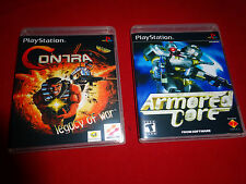 EMPTY CASES!  - Contra Legacy of War + Armored Core Sony Playstation PS1 PS3