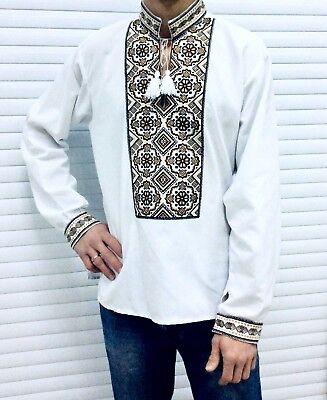 all sizes sorochka Ukrainian embroidered shirt for man vyshyvanka of cotton