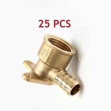 25 Pcs 12 Pex X 12 Female Npt Drop Ear Elbow Brass Crimp Fitting Lead Free
