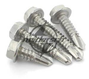 M5.5 M4.8 Hex Washer Head Self-Drilling Screw 410 Stainless Steel M4.2