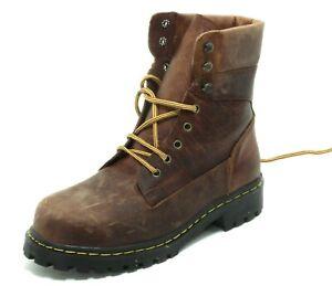 136 Leder Boots Schnürschuhe Trapper Worker Country Stahlkappen Dr. Molt's 44