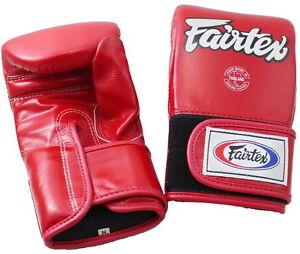 FAIRTEX MUAY THAI KICK BOXING GLOVES TGT7 RED COLOR BAG GLOVES ENCLOSED THUMB
