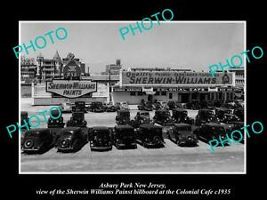 OLD-LARGE-HISTORIC-PHOTO-OF-ASBURY-PARK-NJ-SHERWIN-WILLIAMS-PAINT-BILLBOARD-1935