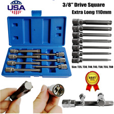 US Pro by Bergen Tools 8pc 3//8/'/' DR Star Bit Socket Set Long Torxs Bits 3303