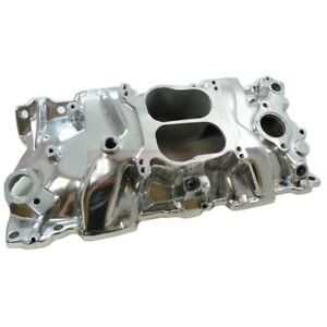 Details about SBC Small Block Chevy 302 307 350 V8 Polished Aluminum Intake  Manifold 1955-86
