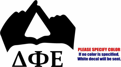 "Delta Phi Epsilon Sorority Hands Graphic Die Cut decal sticker Car Truck Boat 6/"""