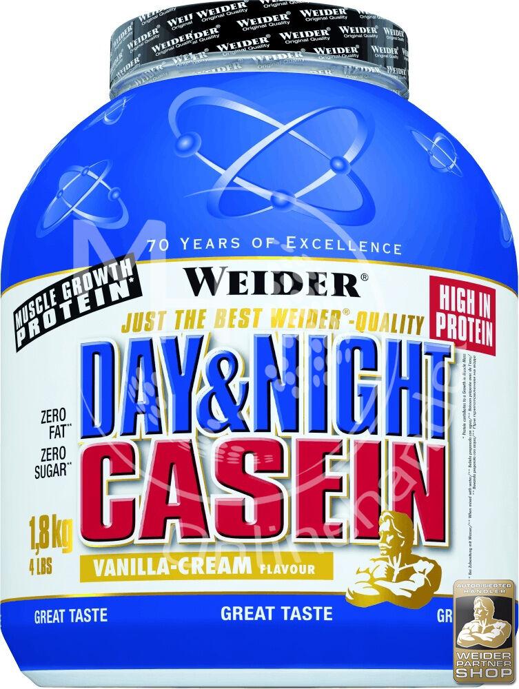 Weider Day&Night Day&Night Weider Casein 1,8Kg Dose +Shaker ( /kg) Protein Eiweiß BCAA Shake 6123d1