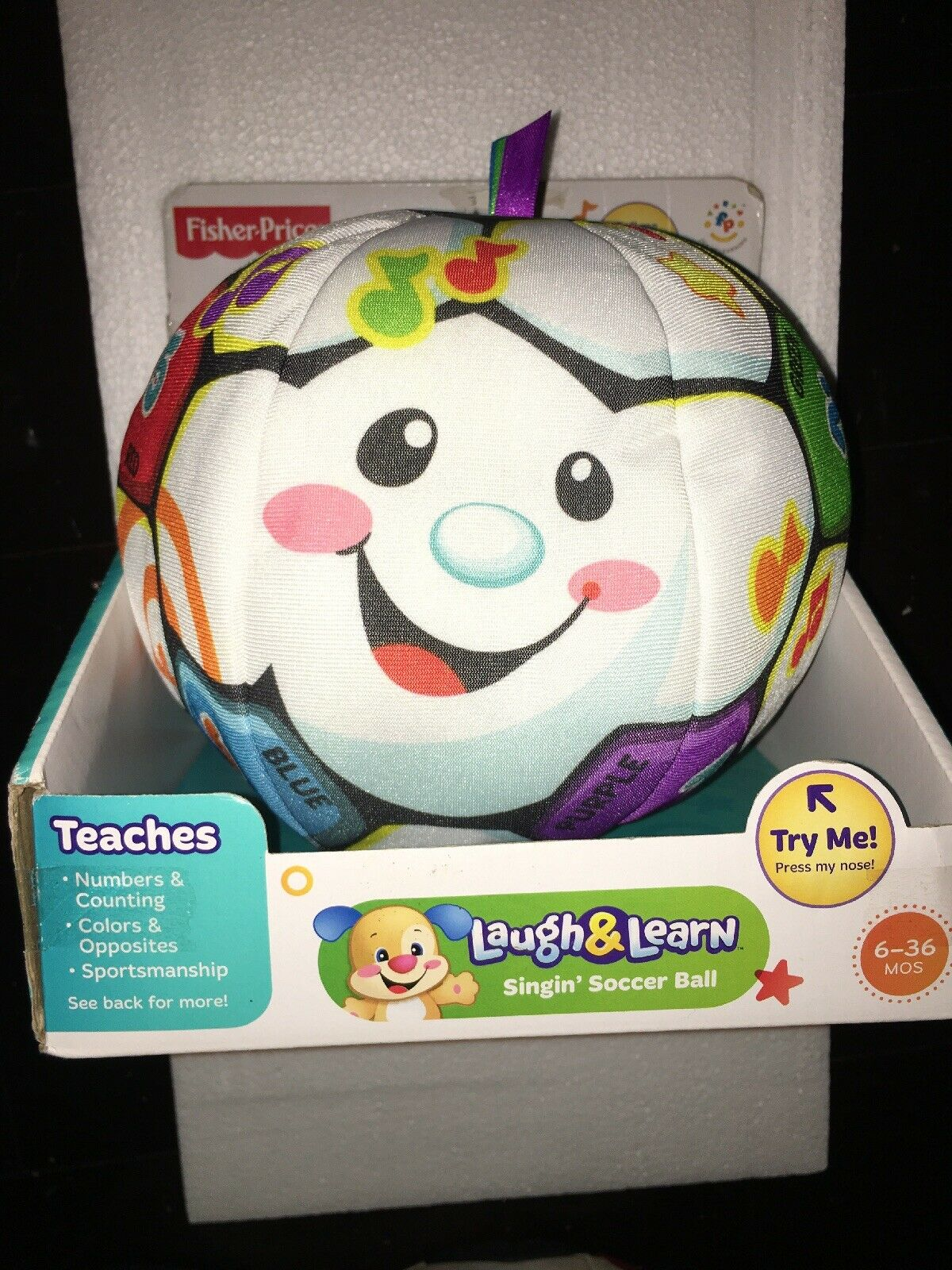 Singin Soccer Ball Fisher-Price Laugh /& Learn Toy Girls Boys Baby Kids Toddler
