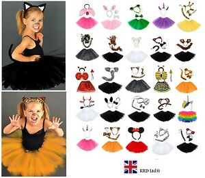 PINK UNICORN EARS HEADBAND TAIL SET Animal Fancy Dress Ladies Kids Girls Kit UK
