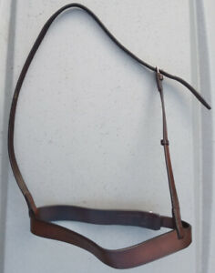 Good quality leather cavesson noseband brown full size