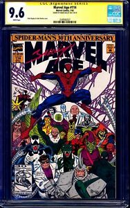 Marvel-Age-114-CGC-SS-9-6-signed-Mark-Bagley-NM-CLASSIC-COVER-ROMITA