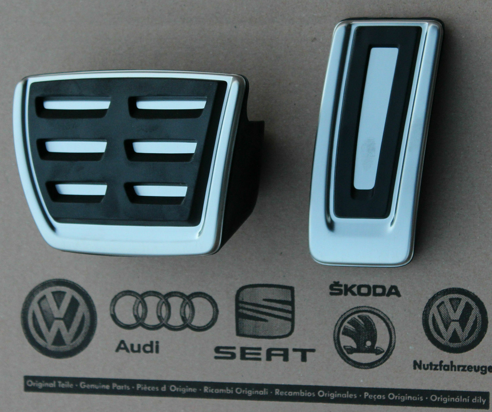 Gr/ö/ße : at QUXING Pedalauflagen Pedal Edelstahl-Auto-Pedal-Kit F/ür VW F/ür Multivan T5 T6 F/ür Caravelle T6 Gasbremspedal-Schutzabdeckung Brems Pedalkappen