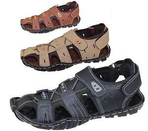 Mens-Sandal-Beach-Buckle-Walking-Fashion-Summer-Casual-Slipper