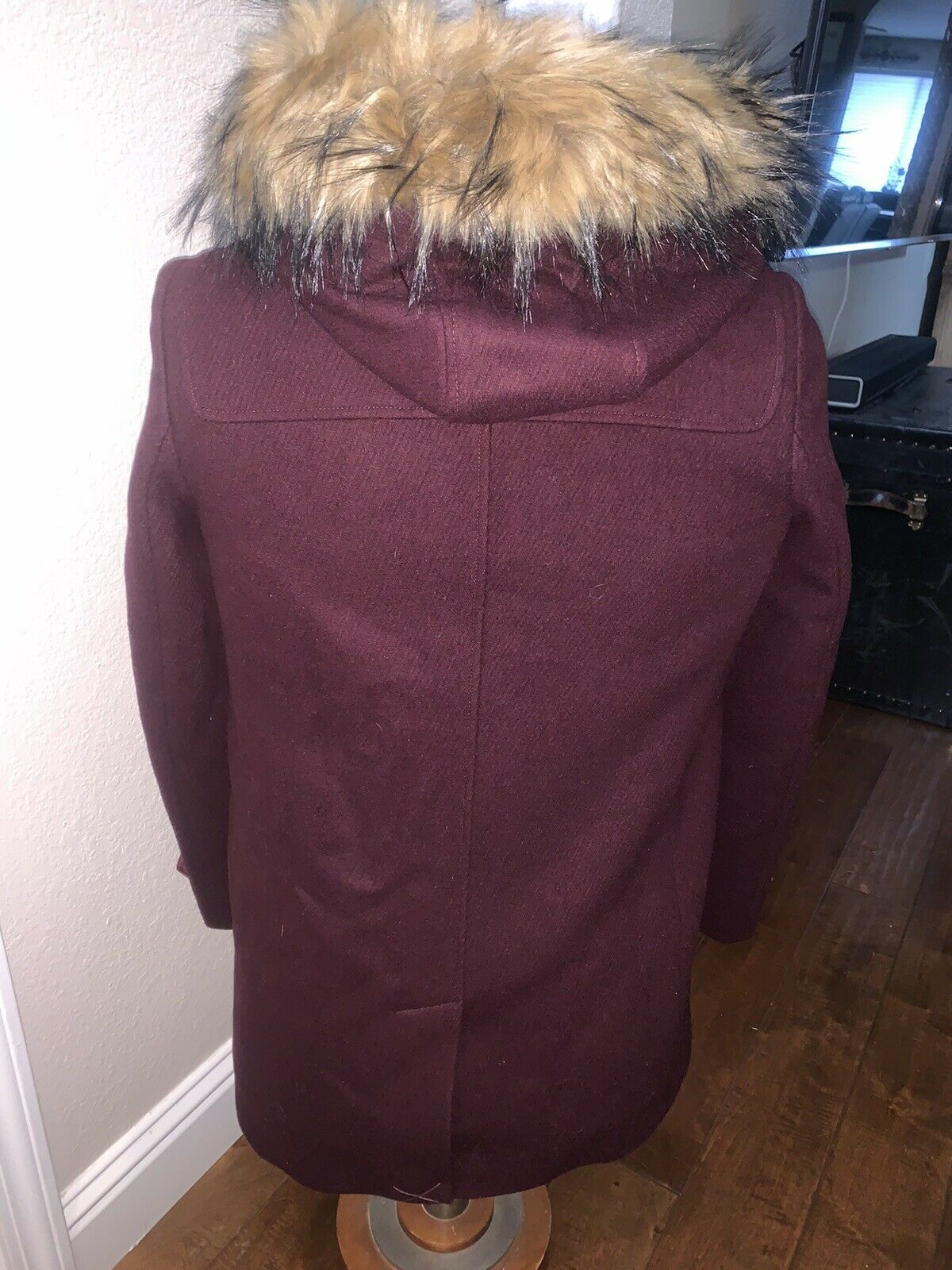Cole Haan Women's Wool Twill Short Duffel Coat Bo… - image 4