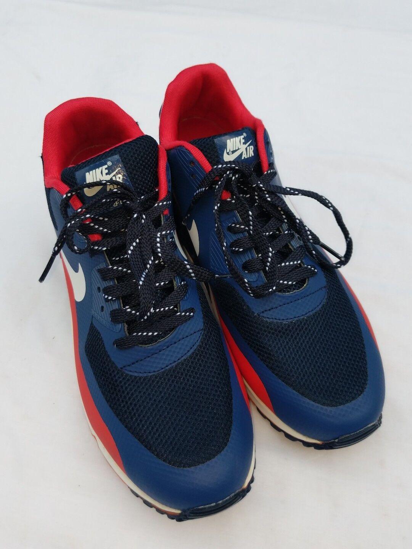 Nike Air Hyperfuse Premium Größe 11 Blau  Bright Crimson  Weiß 454446 -081 kostenlos S &H