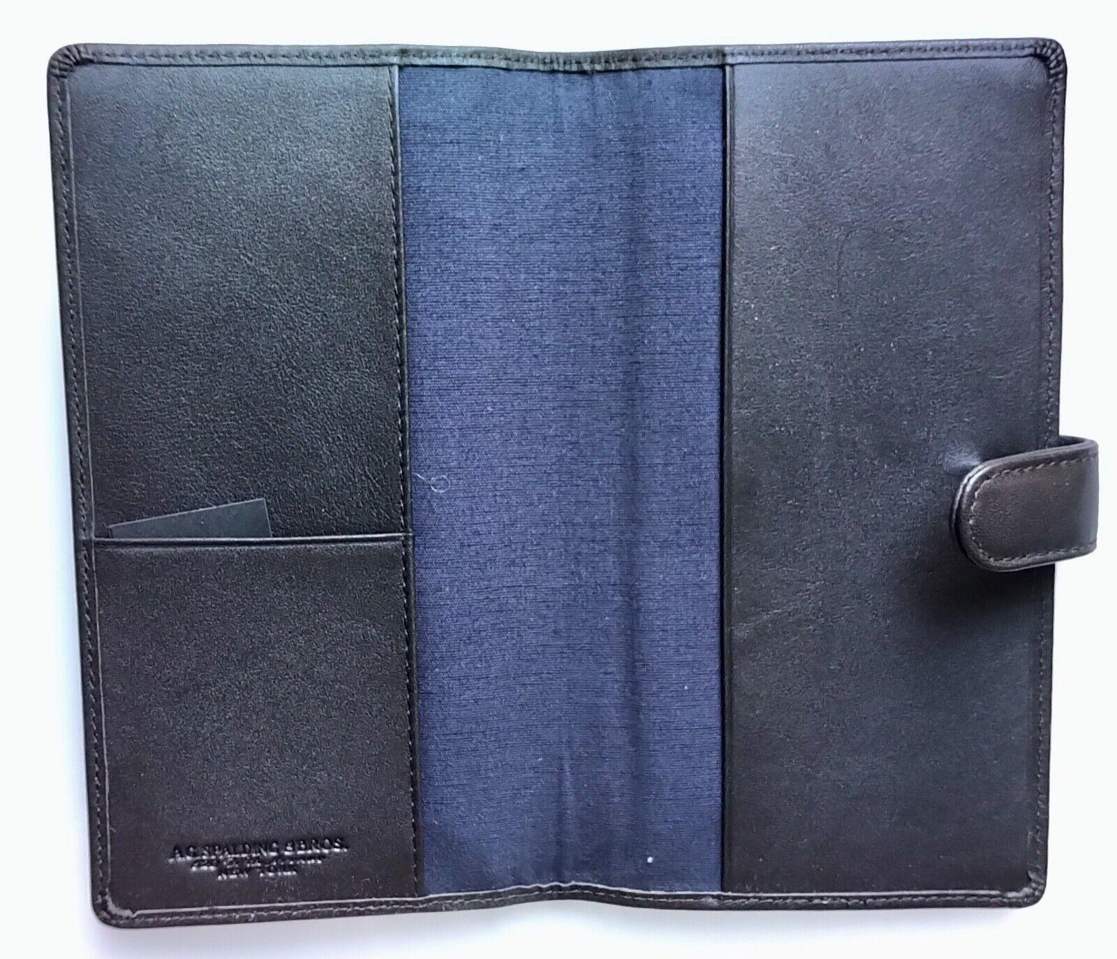 A.G SPALDING & Bros Calf Leather A5 Desk Agenda, Shiny