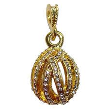 Pendentif Audrey style Faberge décorée par strass Bijou raffiné Cadeau femme