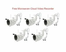 5 Microseven 1080P HD Wireless IP CAMERA Built-in POE SD Card Slot Audio Outdoor