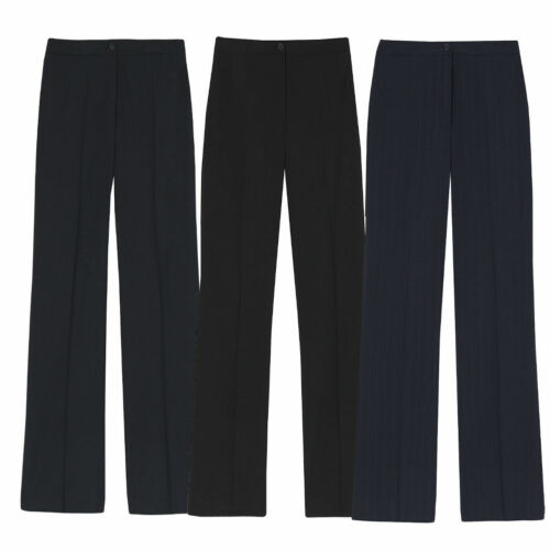 Ladies Plus Size Bootcut Straight Leg Pants Smart Office Pull On Trousers 16-24