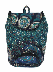 Unisex-Fashion-Blue-amp-Pink-Backpack-Bag-Indian-Mandala-Cotton-Beach-Bags