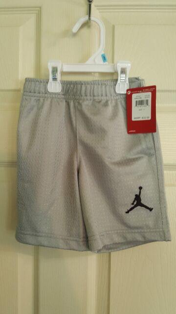 9e710fd7561 NWT Nike Air Jordan Toddler Boys Lt Gray (Silver) Mesh Basketball Shorts  Size 6