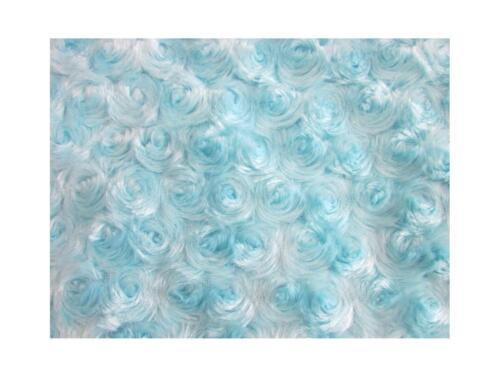 "new baby soft fabric Rose Faux Fur Photo Prop 36/"" x 36/"" light blue boy 1 yard"