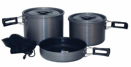 Hard Anodization Triple Coated Quantum 2® Cook Set Durable Resists Abrasions Bag