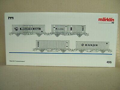 """Märklin Vuoto Cartone Per Auto-set """"trasporto Di Container"""" N. 4515 Del 1995-sport"""" Nr. 4515 Von 1995 It-it Mostra Il Titolo Originale"""