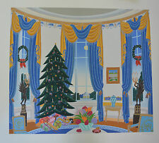 """Thomas McKnight  """"White House Blue Room """"  Signed Numbered Serigraph  with a COA"""