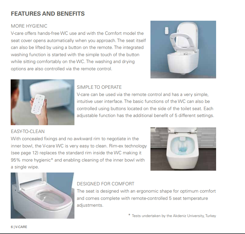 Groovy Vitra V Care Rimless Shower Toilet Wall Hung Aqua Clean Bidet Wc Essential Smart Pabps2019 Chair Design Images Pabps2019Com