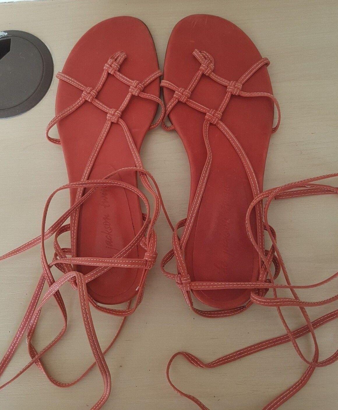 I GEMELLI Jackson rossastro pelle rosa Piatto Gladiatore Tg EU 39