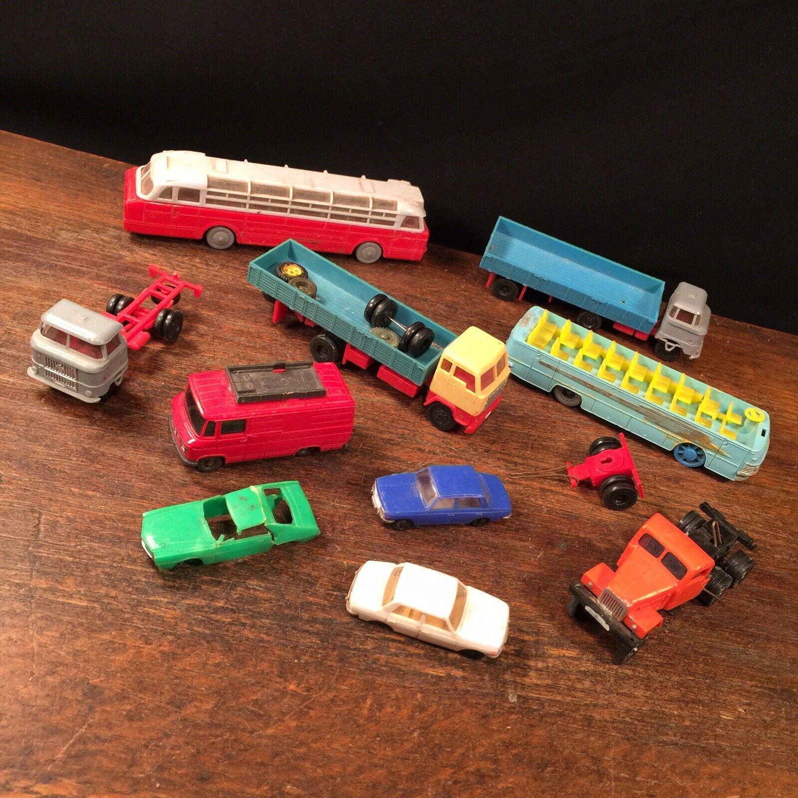 Vintage jouet voiture Lot Camion Bus Wiking MAN Allemagne plastique Railroad COURRIER PRIORITAIRE