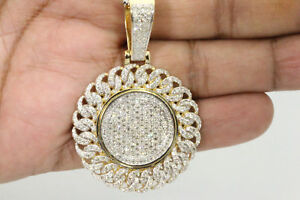 10K-YELLOW-GOLD-OVER-3-76-CT-DIAMOND-LARGE-2-25-034-CROSS-PENDANT-CHARM-PIECE