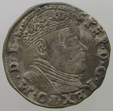 POLAND 3 GROSCHER 1584 Stephan Bathory    #T7 299