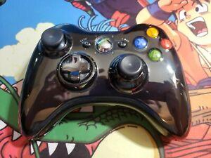 Microsoft Xbox 360 Wireless Controller very good condition gloss black pro