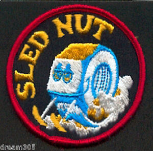 Vintage-Snowmobile-Patch-Funny-SLED-NUT-Ski-Snowboard-1960-039-s-1970-039-s-SKIDOO