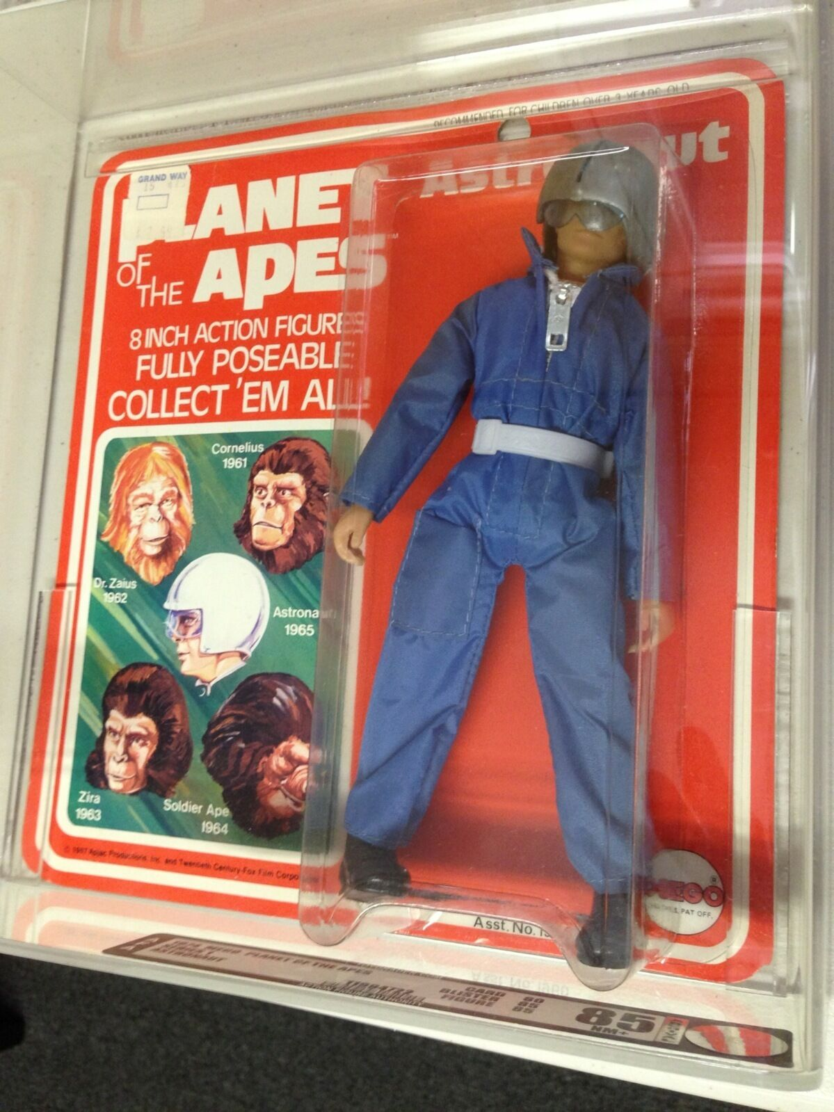 "Mego Planet of the Apes Astronaut 1974 8"" Action Figure AFA 85 Subs 80 85 85"