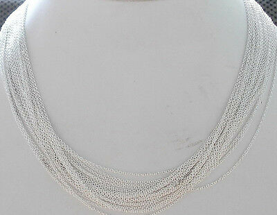 20PCS 1mm Bulk Silver Plated ROLO Necklace Round Cable Chain for Pendants,Women
