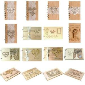 Wedding-Decor-Guest-Books-Signature-Wooden-Love-Hollow-Lace-Notebook-Sign-Board