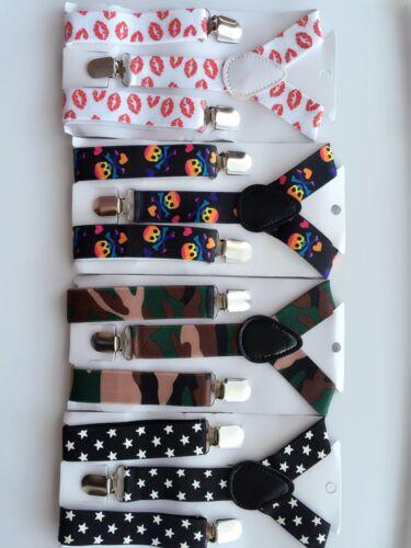 Boys Kid Children Party Costume Wedding Elastic Clip on Suspender Brace Belt