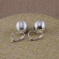 Boucles d`Oreilles Dormeuse Argenté Perle Metal Simple Class Retro DD6