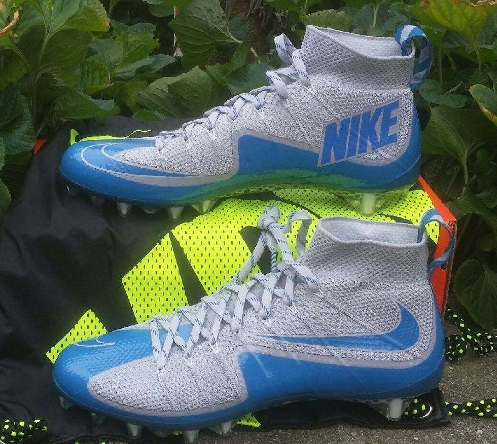 NIKE VAPOR UNTOUCHABLE TD FOOTBALL CLEATS SIZE 12 GREY blueE 707455-011 LIONS