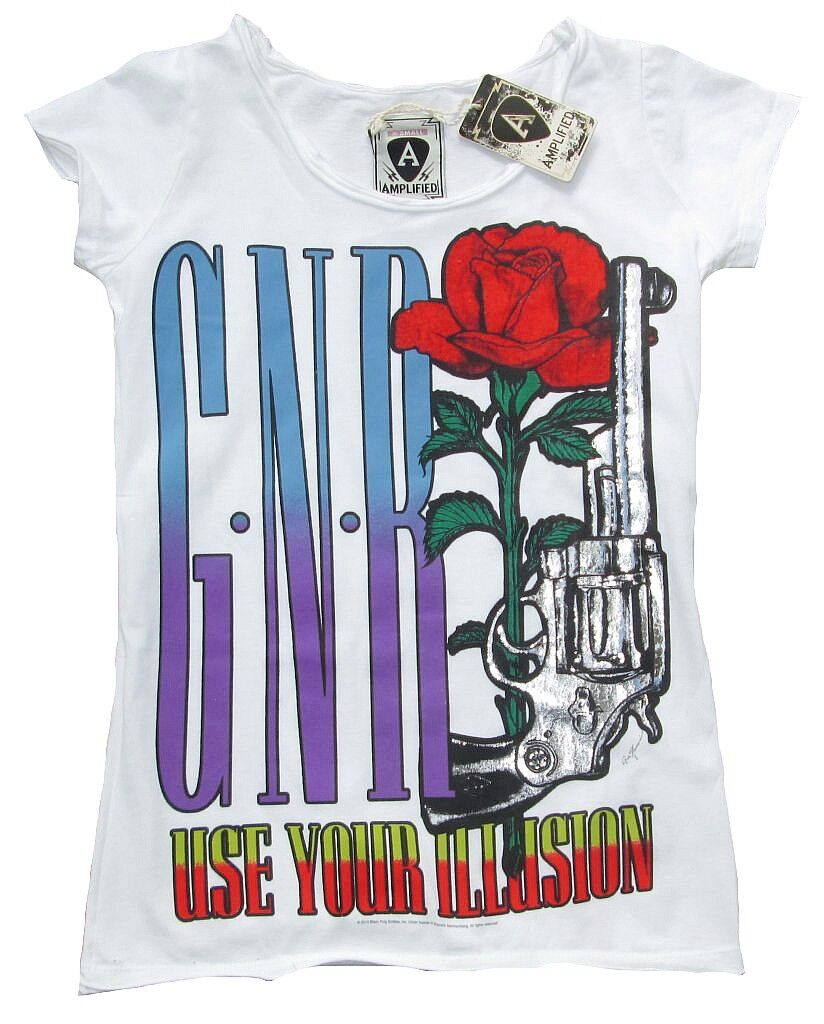 AMPLIFIED Off. GUNS N RosaS use your illusion Rock Star Vintage T-Shirt XS 34 36