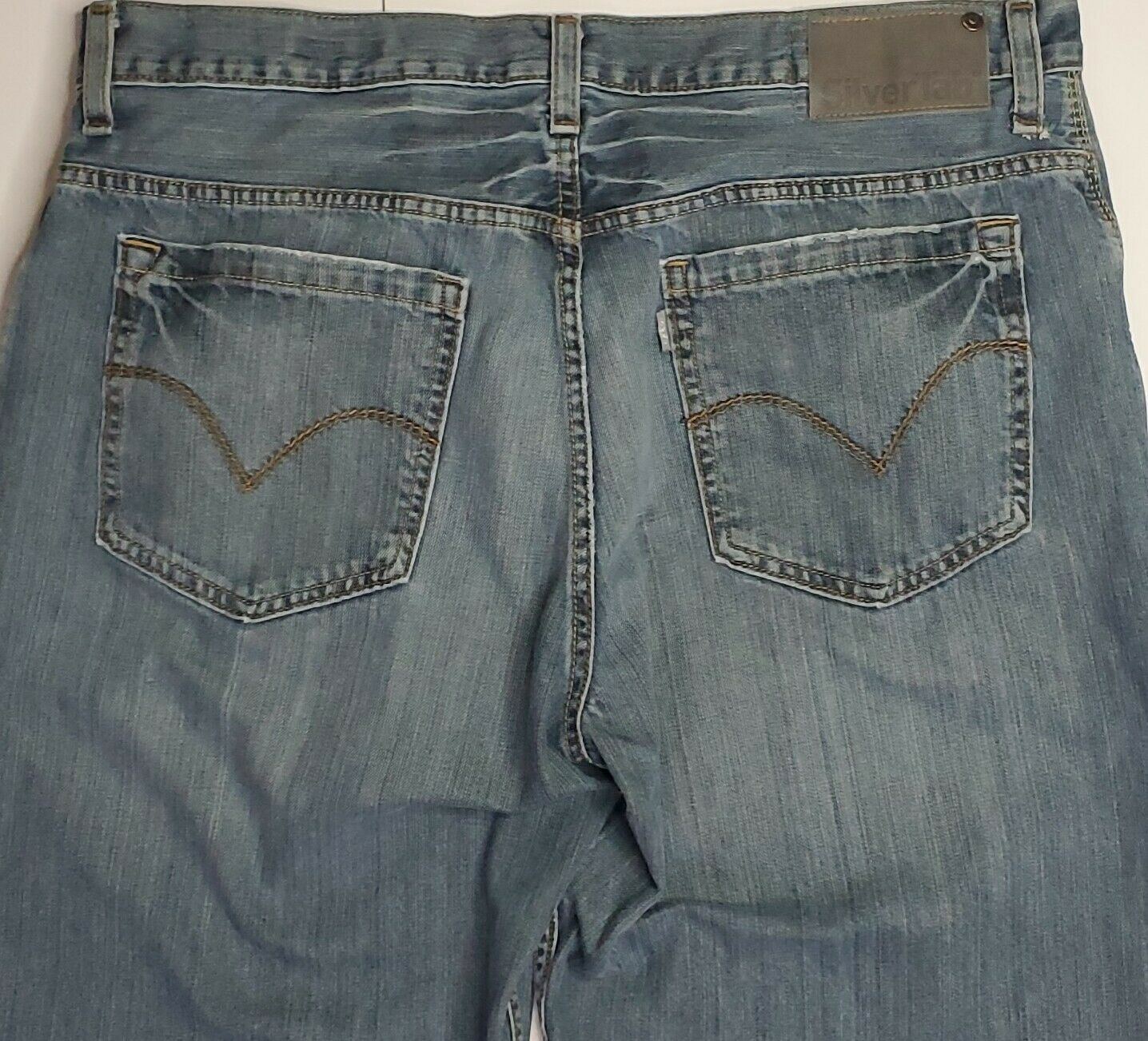 Vintage Levis Silvertab Baggy Straight Jeans 36x3… - image 6