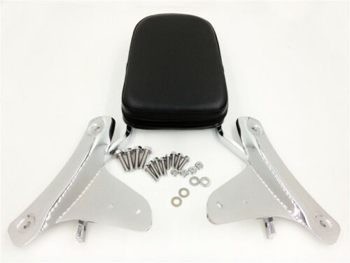 Chrome Flame Backrest Sissy Bar For Honda Shadow ACE 750 VT750//ACE 400 VT400