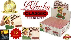 "SPAIN Big Bambu 1 1//2/"" PURE HEMP World/'s Finest Rolling Paper 33 Leaves//Book 25"