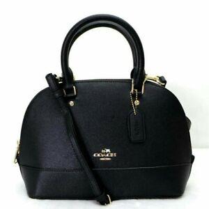 Coach-Bag-Mini-Sierra-Dome-Satchel-handbag-Sling-Crossbody-black