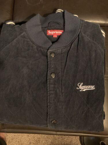 Supreme Corduroy Varsity Navy Jacket Vintage. Men'